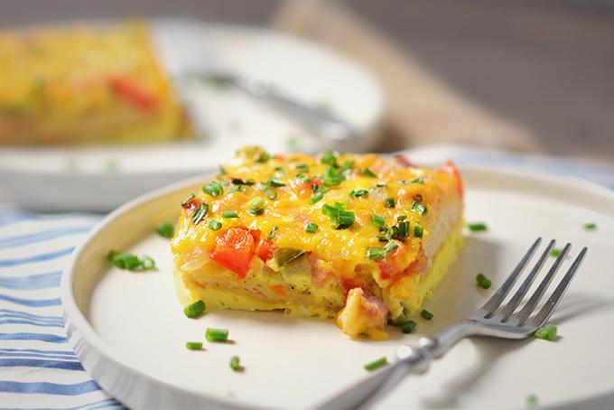 Loaded Baked Denver Omelet Casserole