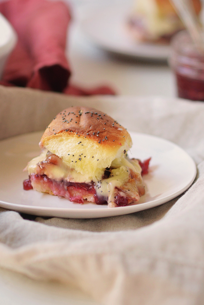 Cheesy Cranberry Bacon and Turkey Sliders