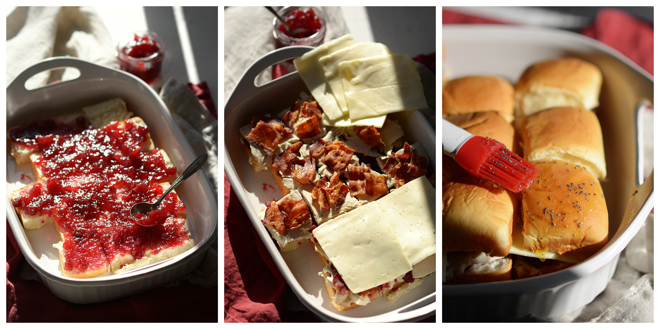 How To Make Cheese Cranberry Turkey and Bacon Sliders