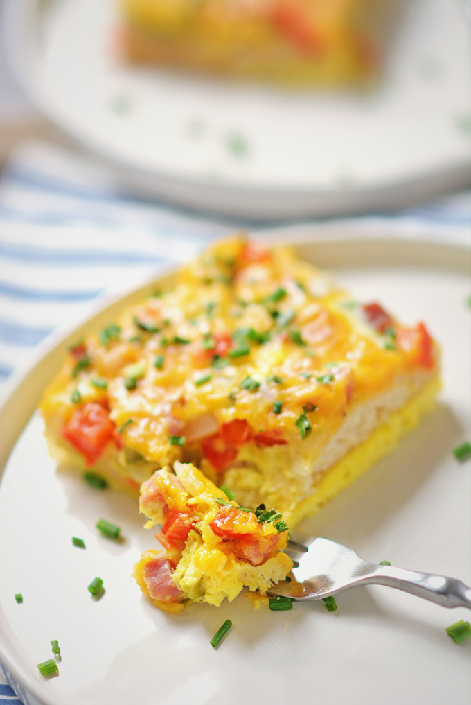 Loaded Baked Denver Omelet Casserole