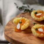 Almond Apricot Brie Cups