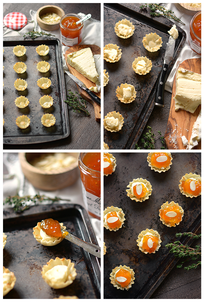 How To Make Almond Apricot and Brie Phyllo Cups