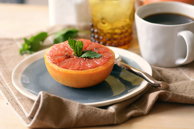 Baked Honey Brown Sugar Grapefruit
