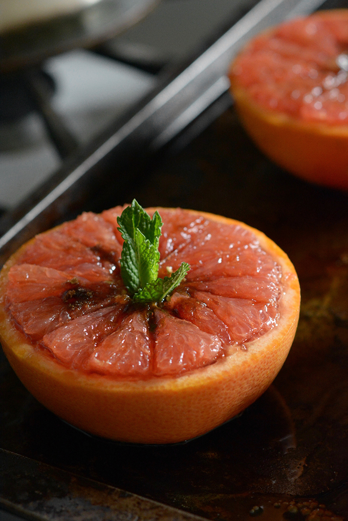 Baked Honey Brown Sugar Grapefruit