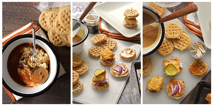 How to Make Chicken and Waffle Sliders