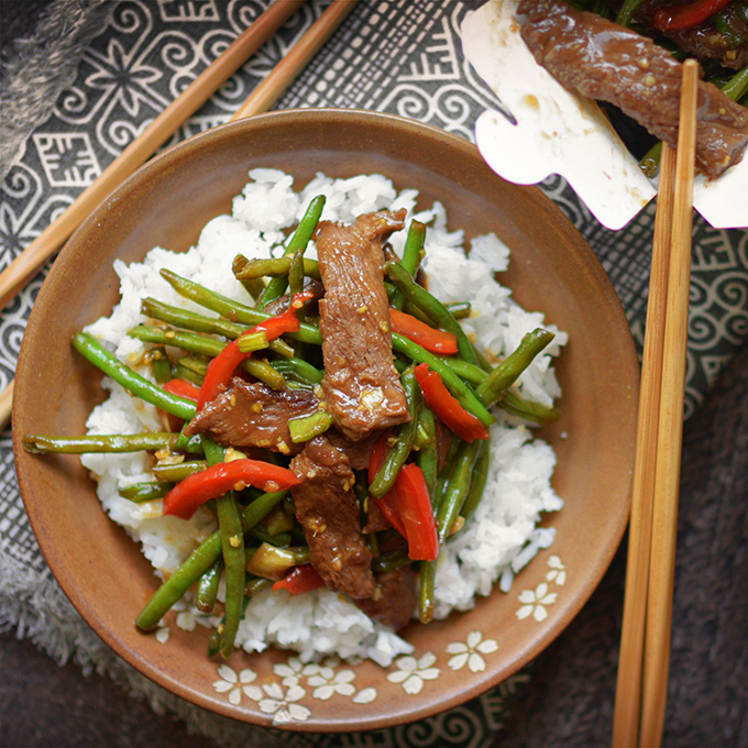 Instant Pot Mongolian Beef and Green Beans