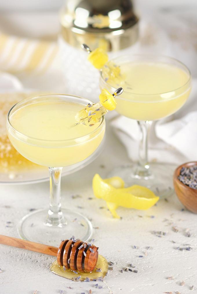 Lavender Bee's Knees Cocktail