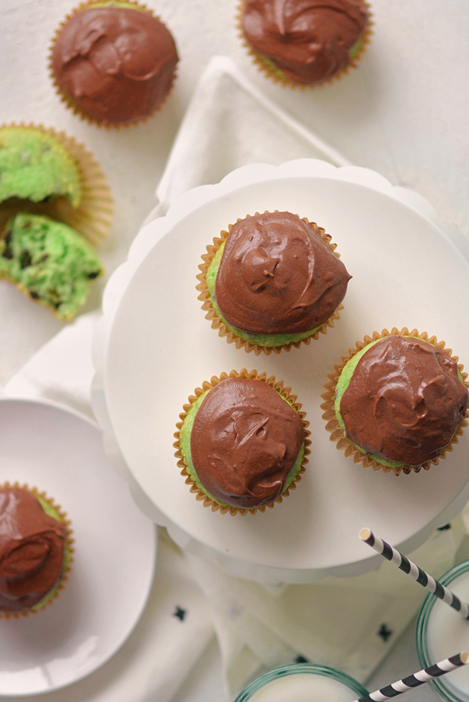 Semi-Homemade Mint Chocolate Chip Cupcakes
