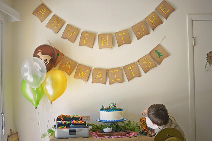 Adventure Awaits Birthday Banner
