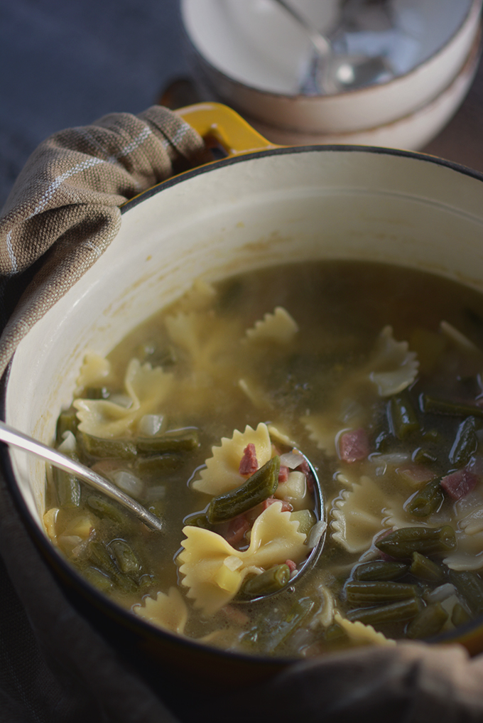 Pennsylvania Dutch Ham, Green Bean and Potato Soup