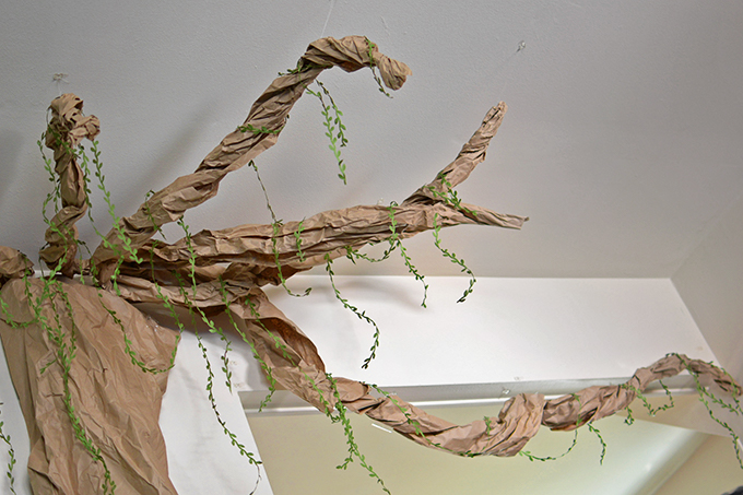 Homemade Paper Wall Tree
