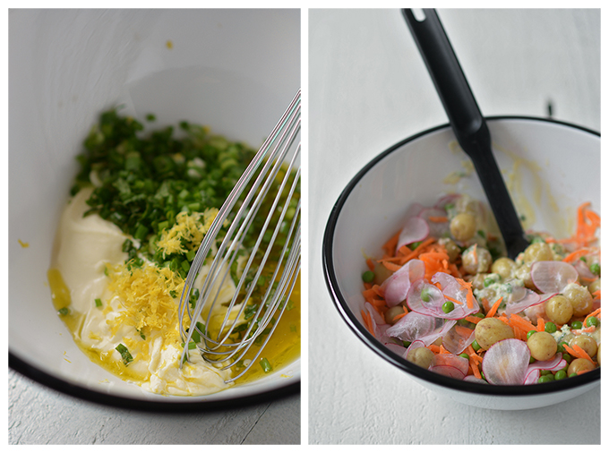 How to Make Spring Vegetable Creme Fraiche Potato Salad