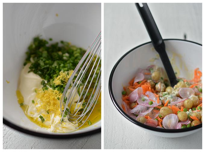 How to Make Spring Vegetable Creme Fraiche Potato Salad