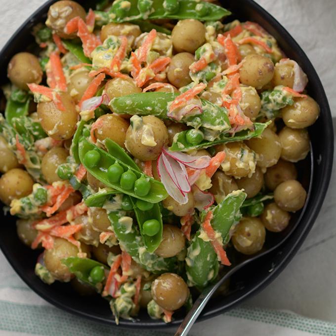 Spring Vegetable Crème Fraîche Potato Salad