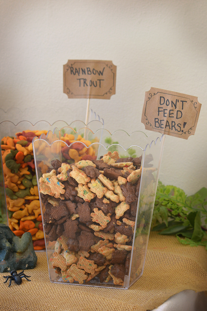 Rainbow Trout and Don't Feed the Bears Party Snacks