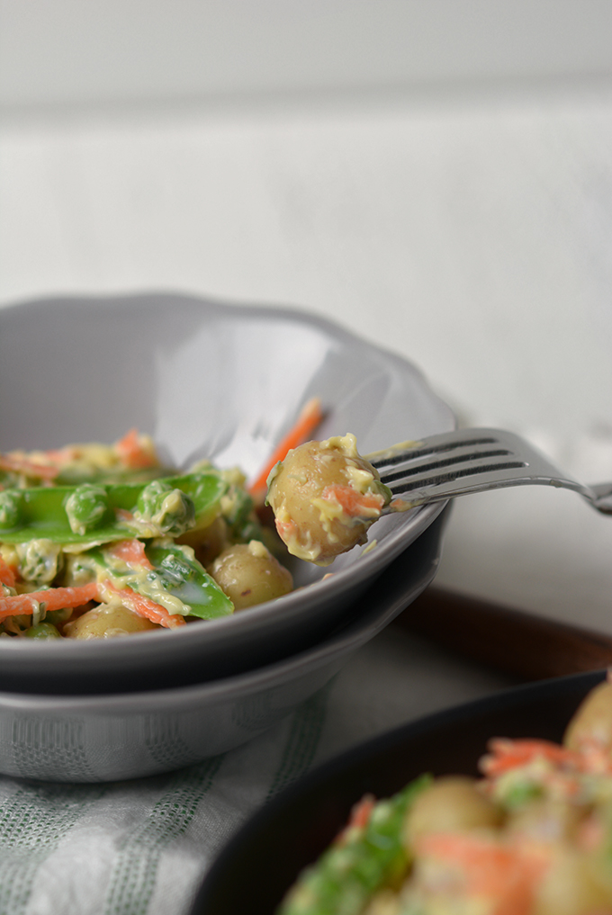 Spring Vegetable Creme Fraiche Potato Salad