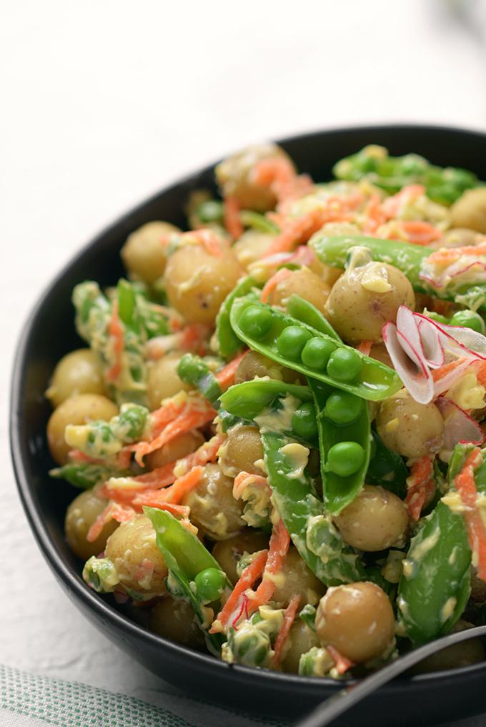 Spring Vegetable Creme Fraiche Potato Salad