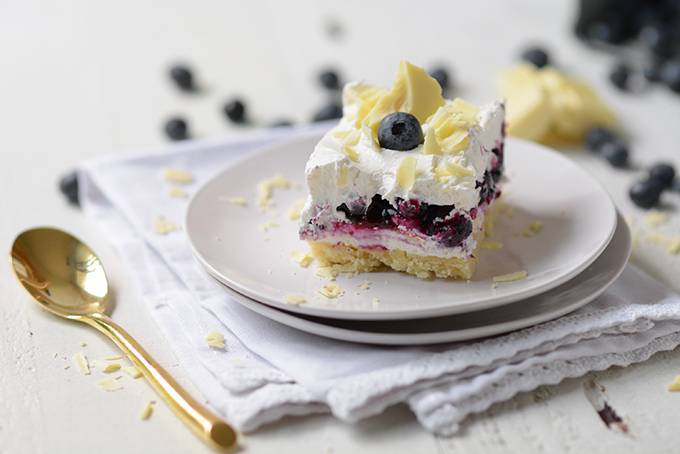 Blueberry Shortbread Icebox Cake