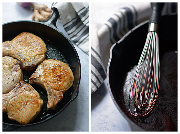 Skillet Pork Chops with Blackberry Glaze - Simple Seasonal