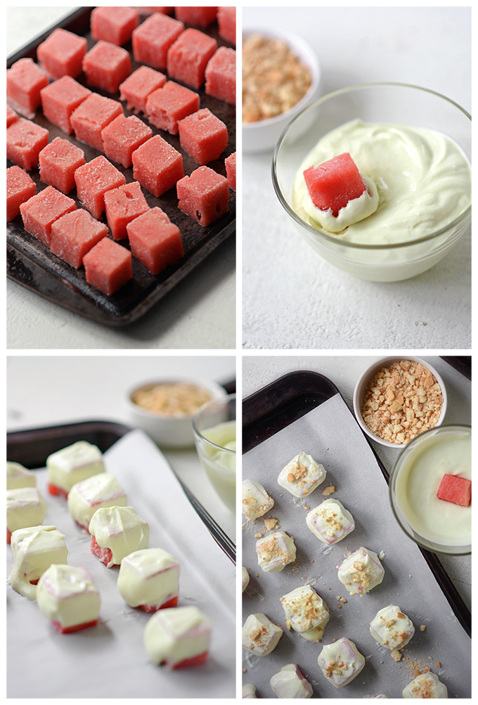 How to Make Frozen Watermelon and Lime Yogurt Bites