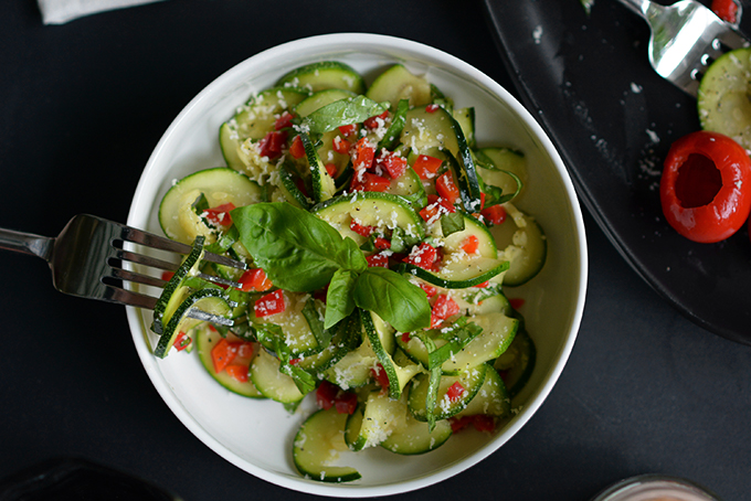 Zucchini and Peppadew Pepper Salad