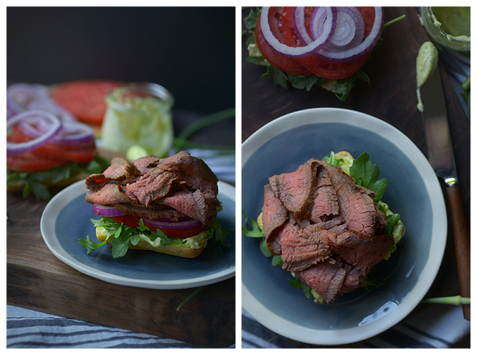 Making Ciabatta Steak Sandwich with Garlic Scape Aioli