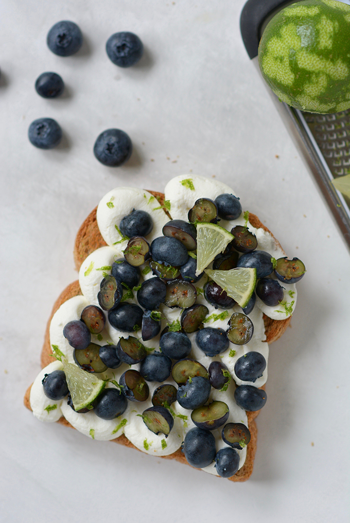 Blueberry Lime Ricotta Toast