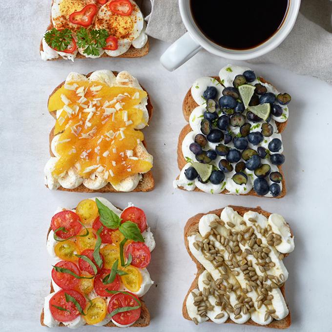 Summer Ricotta Toast 5 Ways
