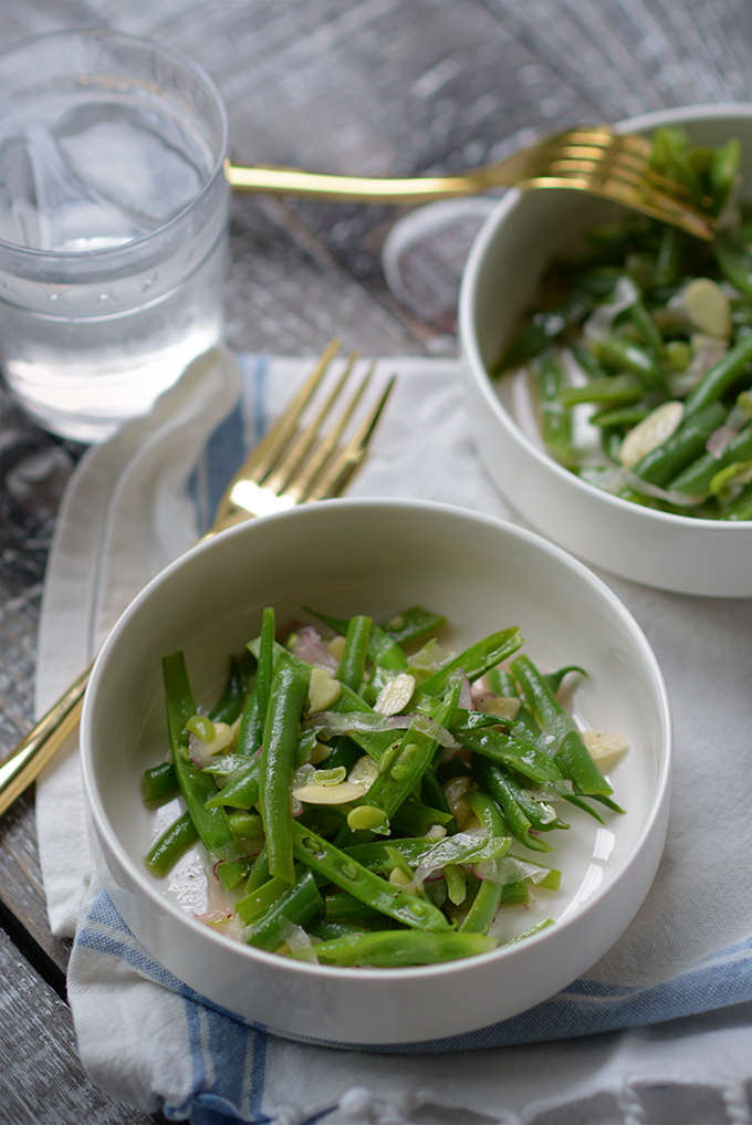 Green Beans Almondine Salad