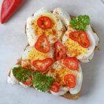Old Bay Eggs Ricotta Toast