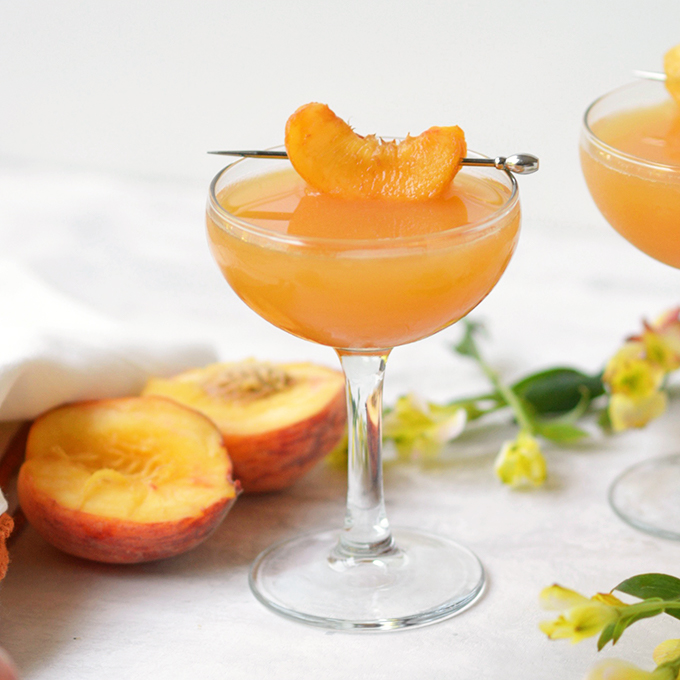 Fresh Peach Mezcal Cocktail