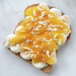 Cinnamon Peaches n' Cream Ricotta Toast
