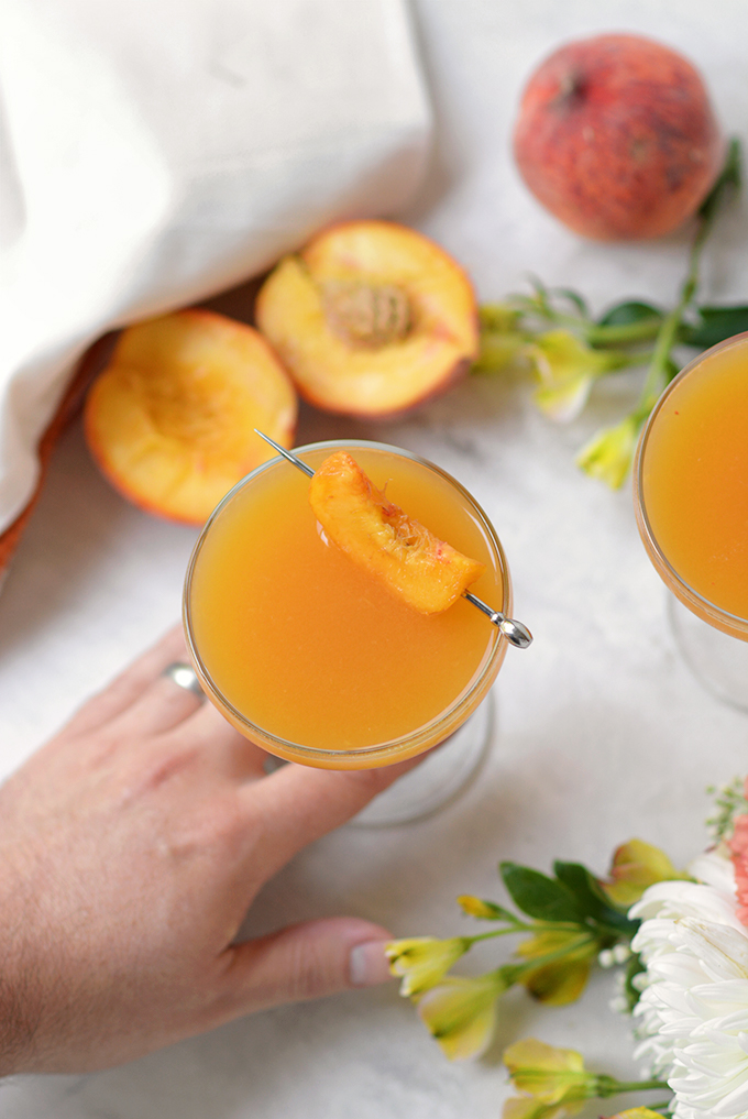 Fresh Peach Mezcal Cocktail