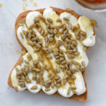 Honey Sunflower Ricotta Toast