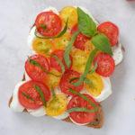 Tomato Basil Ricotta Toast