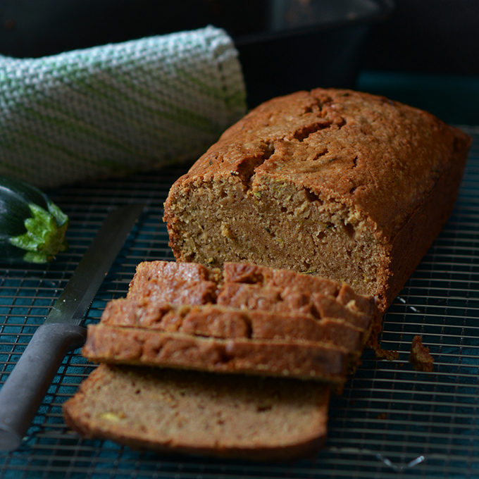 Zucchini Bread with Butter and Brown Sugar