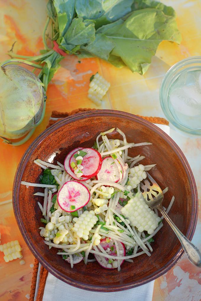 Kohlrabi and Corn Salad