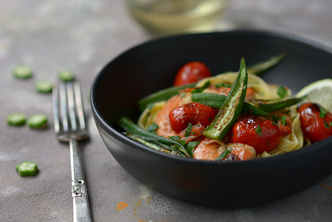 One-Skillet Shrimp and Okra