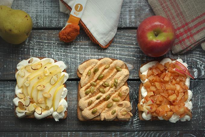 Fall Ricotta Toast 3 Ways