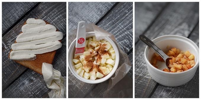 How to Make Baked Apple Pecan Ricotta Toast