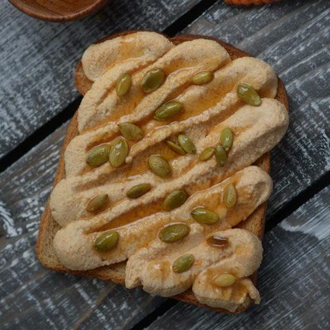 Pumpkin Spice Ricotta Toast