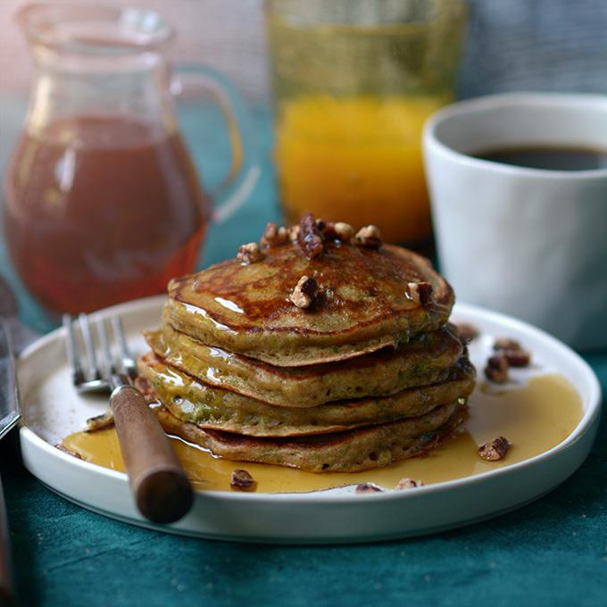Zucchini Buttermilk Pancakes