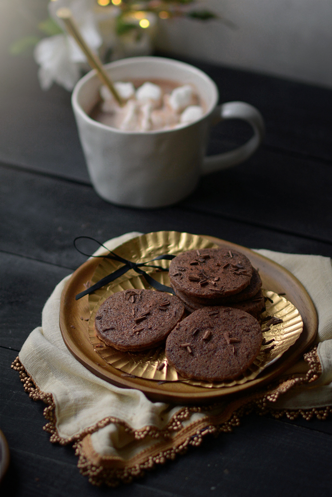 Belgium Chocolate Shortbread Cookies