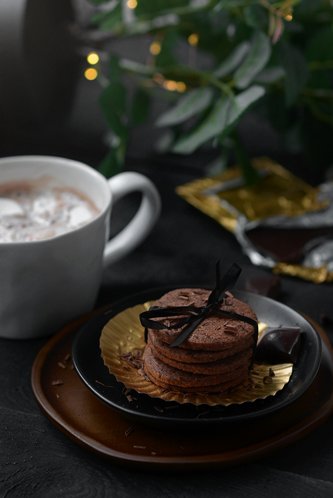 Belgium Chocolate Shortbread Cookies