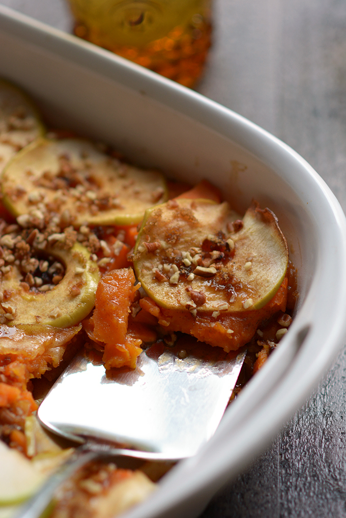 Scalloped and Candied Sweet Potatoes and Apples