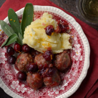 Turkey Meatballs with Cranberry Glaze