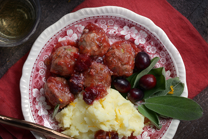 How to Make Turkey Meatballs with Cranberry Glaze