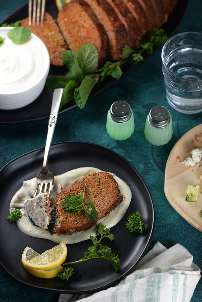 How to Make Lamb Meatloaf with Yogurt Sauce