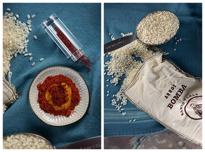 Shrimp Paella Ingredients