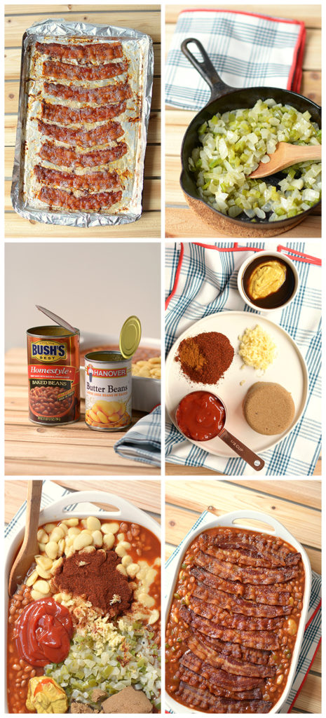 Step-by-step photos showing how to prepare Potluck-Perfect Baked Bean Casserole